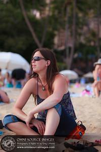 Ann's very first day at the beach on 7-8-2012 Waikiki.