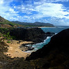 Looking north between Koko Head and Makapu'u, east Oahu, Hawaii