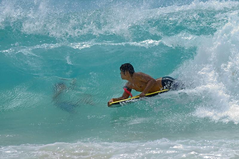 Boogie boarding/body surfing