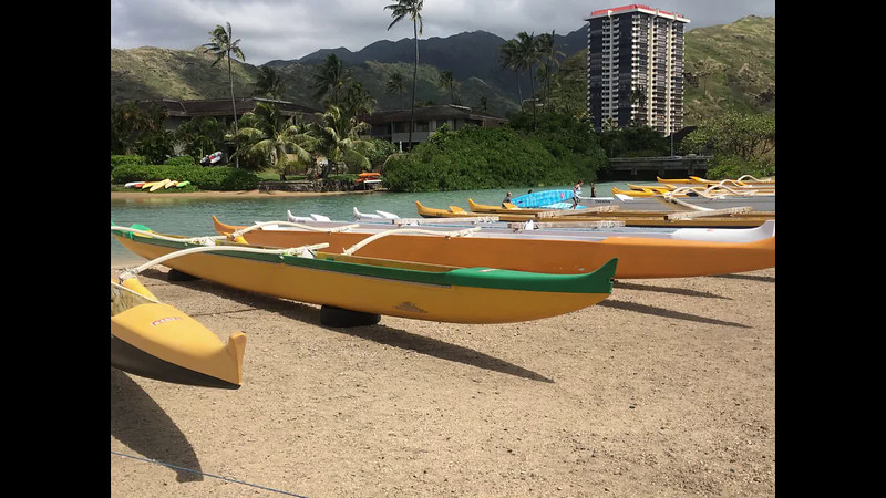 Hawaiian rowing and sailing canoes