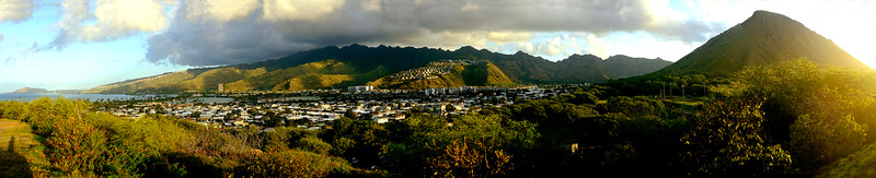 Looking west from Koko Head, east Oahu, Hawaii
