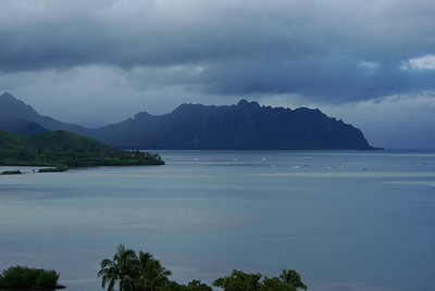 One of many view across Kaneohe Bay from where we stayed. The view was constantly changing due to weather.