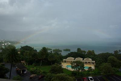 Rainbow over Kaneohe Bay.