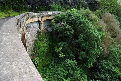 Part of the original Pali Highway.