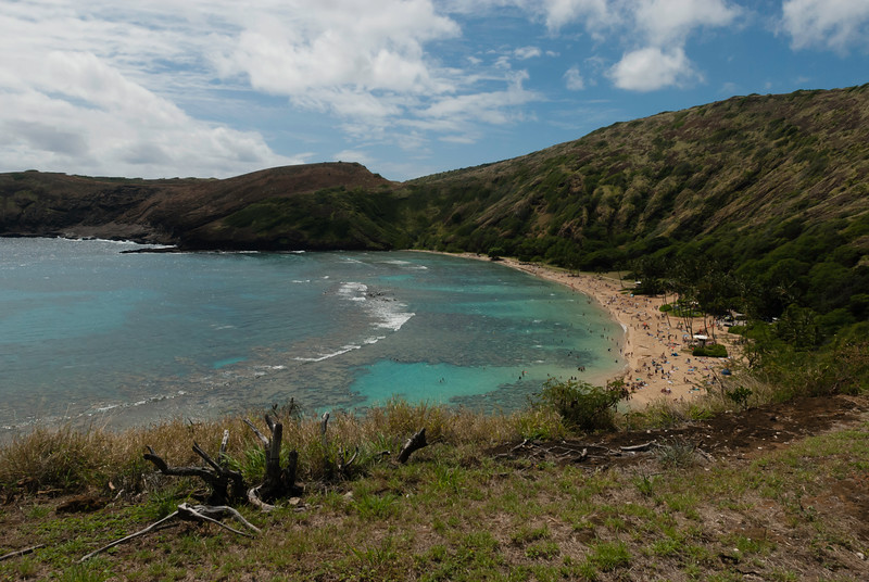 Hanauma Bay is a world famous snorkeling spot due to its protected reefs