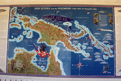 Glass Map of New Guinea Campaign