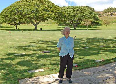 Jenny at Punchbowl Volcano Cemetery