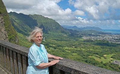 Jenny at Pali Lookout