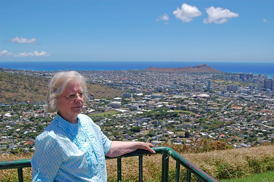 Jenny overlooking Diamond Head