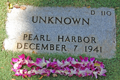 One of Three Unknowns at National Cemetery of the Pacific