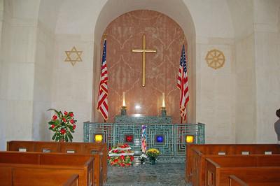 Chapel behind Memorial Statue