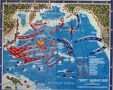 Map of Battle of Midway