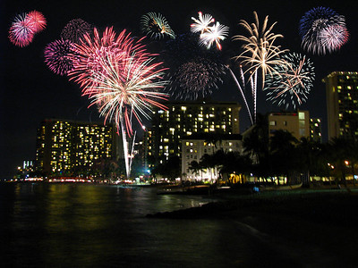 Waikiki Beach.  (I added the fireworks, lol).