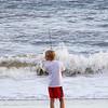 Boy Fishing at Yaupon Beach (29 May 2016)