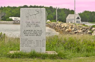 The Oak Island memorial