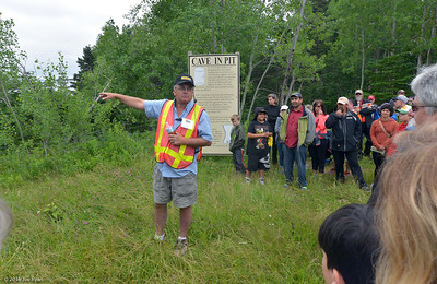 Charles Barkhouse conducting the Oak Island tour
