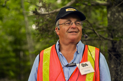 Charles Barkhouse on the Oak Island tour