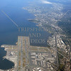 Aerial view of San Francisco (SFO) Airport in California.