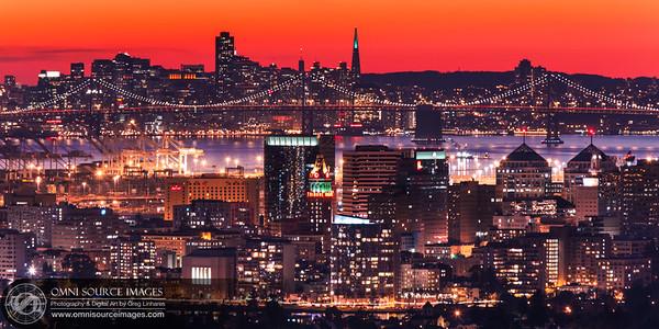 Oakland-San Francisco Skyline