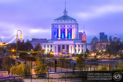 Warriors Blue & Gold City Lights Around Lake Merritt in Oakland