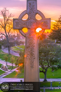 Mountain View Cemetery Cross HDR, Oakland, CA