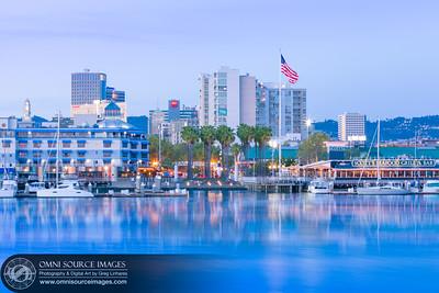 Jack London Square Waterfront Twilight - Oakland, CA