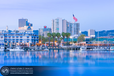 Jack London Square Waterfront Twilight - Oakland, CA