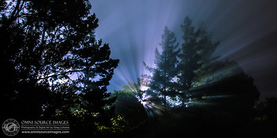 Close Encounters of the Oaklandish Kind. Skyline Blvd. Ridge. 30 second exposure at f/8.0, ISO 50, 70mm. Saturday, June 15, 2013 at 10:59 PM.