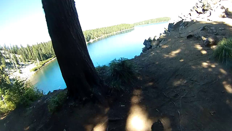 Waldo Lake, west side viewpoint