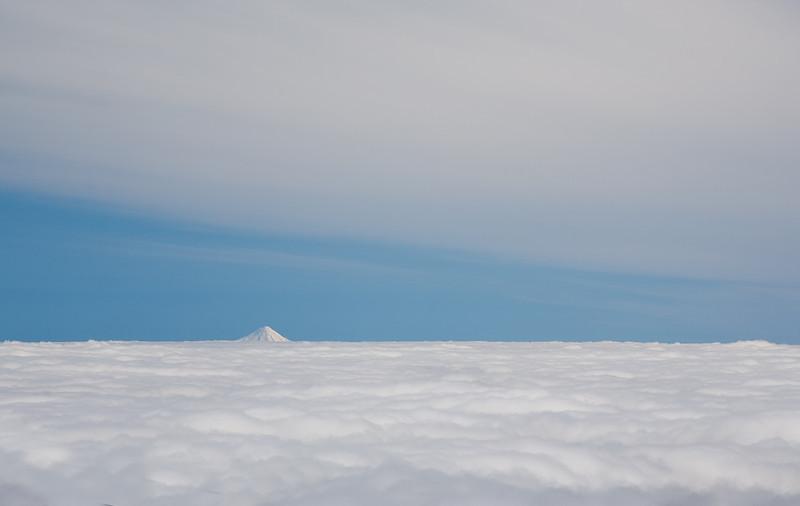 Mt Egmont from Whakapapa ski field.