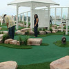 The mini-golf course onboard Oasis.