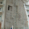 One of two impressive rock-climbing walls.