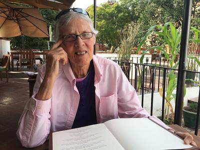 Pat at the Casa Oaxaca.