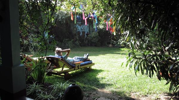 Garden at the Casa Colonial.