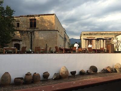 The terrace of the Casa Oaxaca.