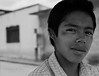 Boy, ice cream street vendor. Nochixtlan, Oaxaca, Mexico