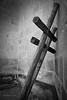 Leaning crosses, church yard. Ixtlan de Juarez, Oaxaca, Mexico