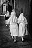 Morning walk, nuns. Oaxaca de Juarez, Mexico
