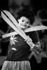 Street performer with machetes, Zocalo. Oaxaca, Mexico