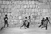Street games, soccer. Oaxaca de Juarez, Mexico