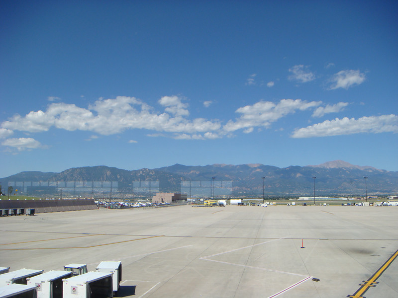 Out the window at the Colorado Springs airport