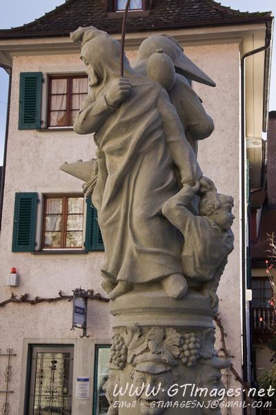 Meersburg, Germany - statue.