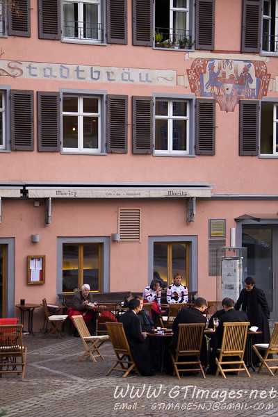 Wangen, Germany - a bunch of priests enjoying an afternoon beer.