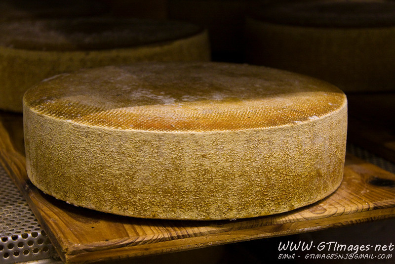 Steibis Cheese tour - cheese aging in a refridgerated room.