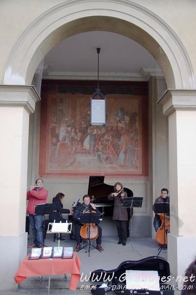 München, Germany - Street musicians.