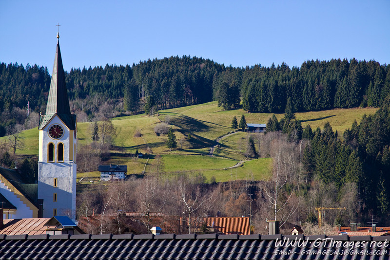 Oberstaufen, Germany - view of the surrounding meadows.