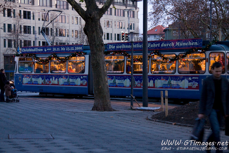 München, Germany - Christkindl tram.