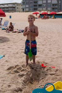 K.C. is proud of his digging.
