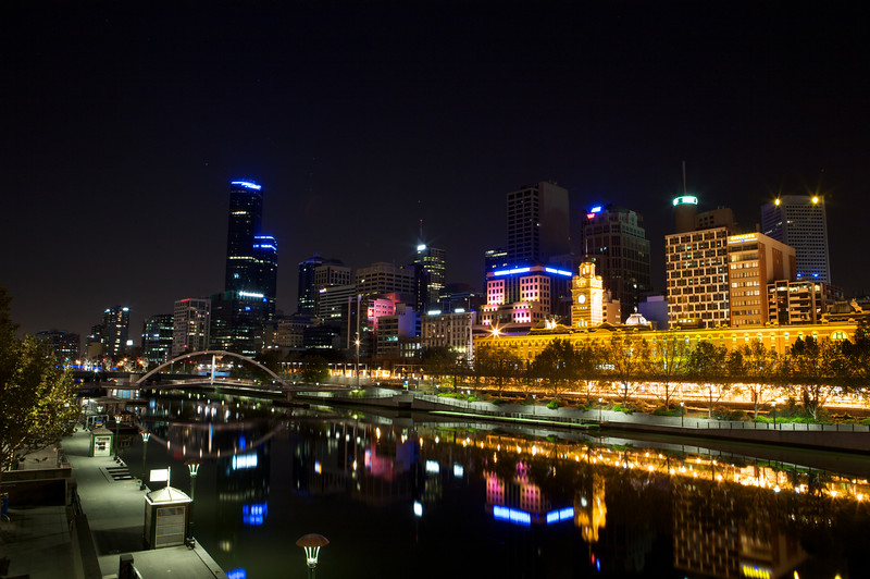 Melbourne's CBD across from the Yarra River