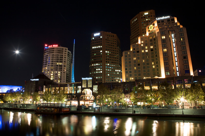 A section of Melbourne's South Bank